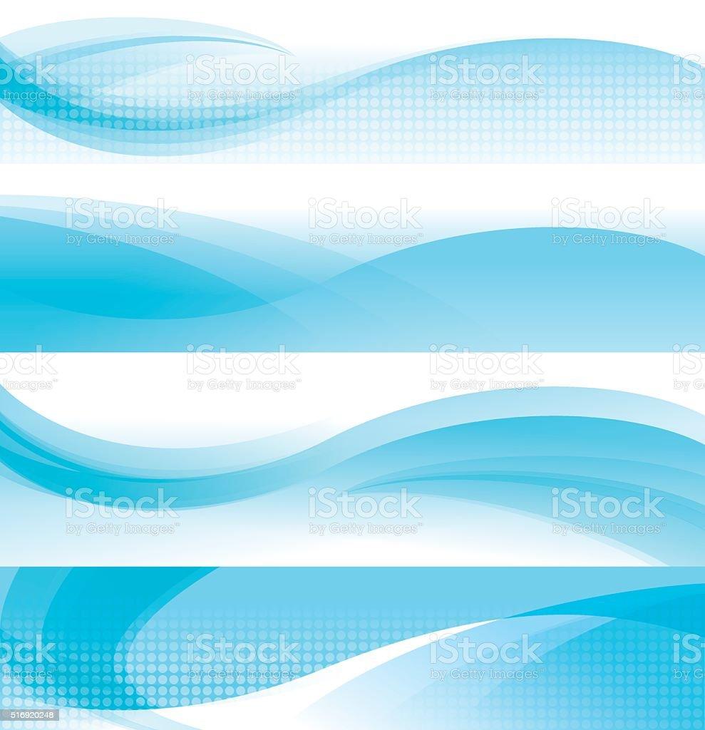 Horizontal Waving Background vector art illustration