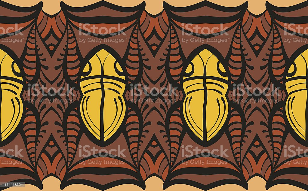 Horizontally Seamless Pattern Mystic royalty-free stock vector art