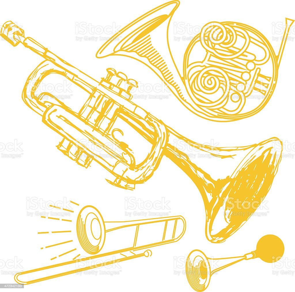 Horn Collection royalty-free stock vector art