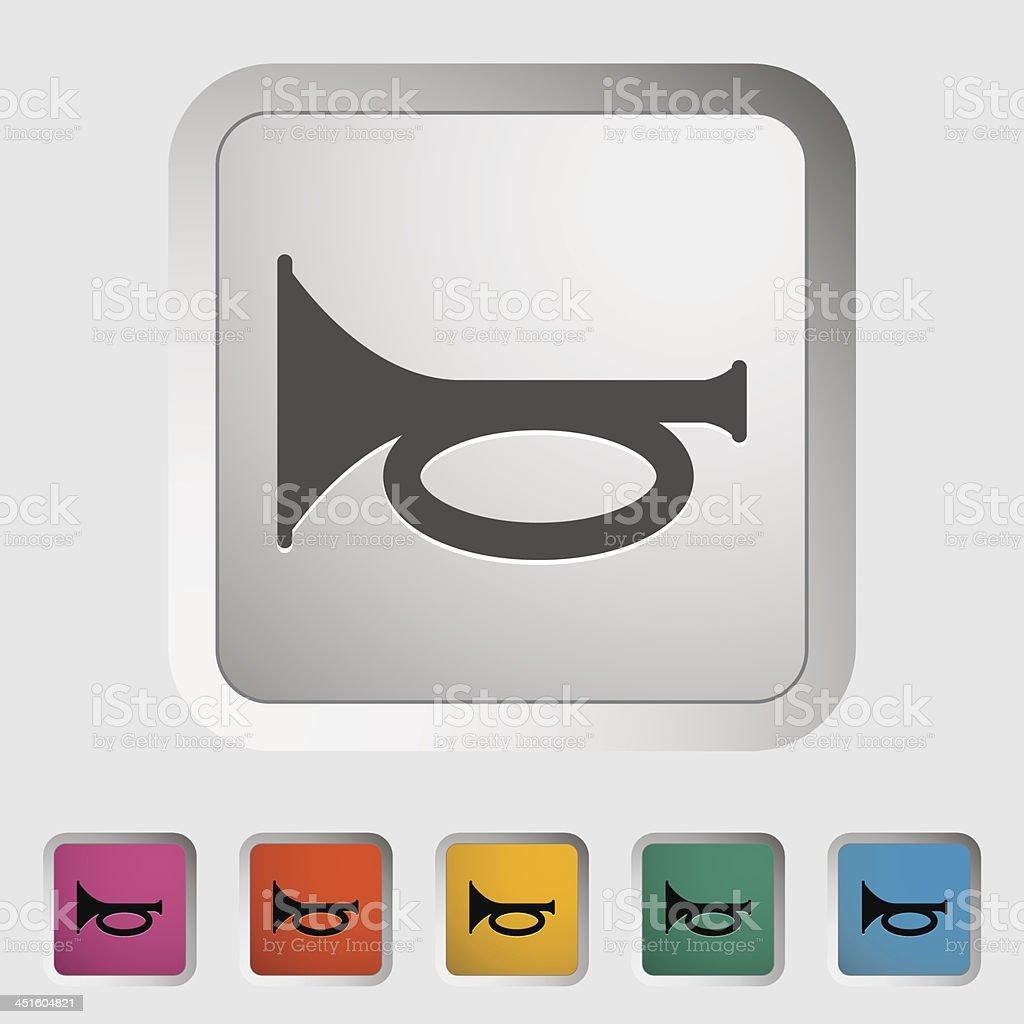 Horn icon royalty-free stock vector art