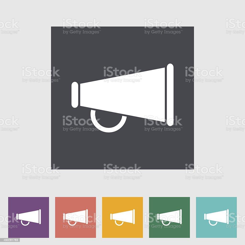 Horn single flat icon. vector art illustration