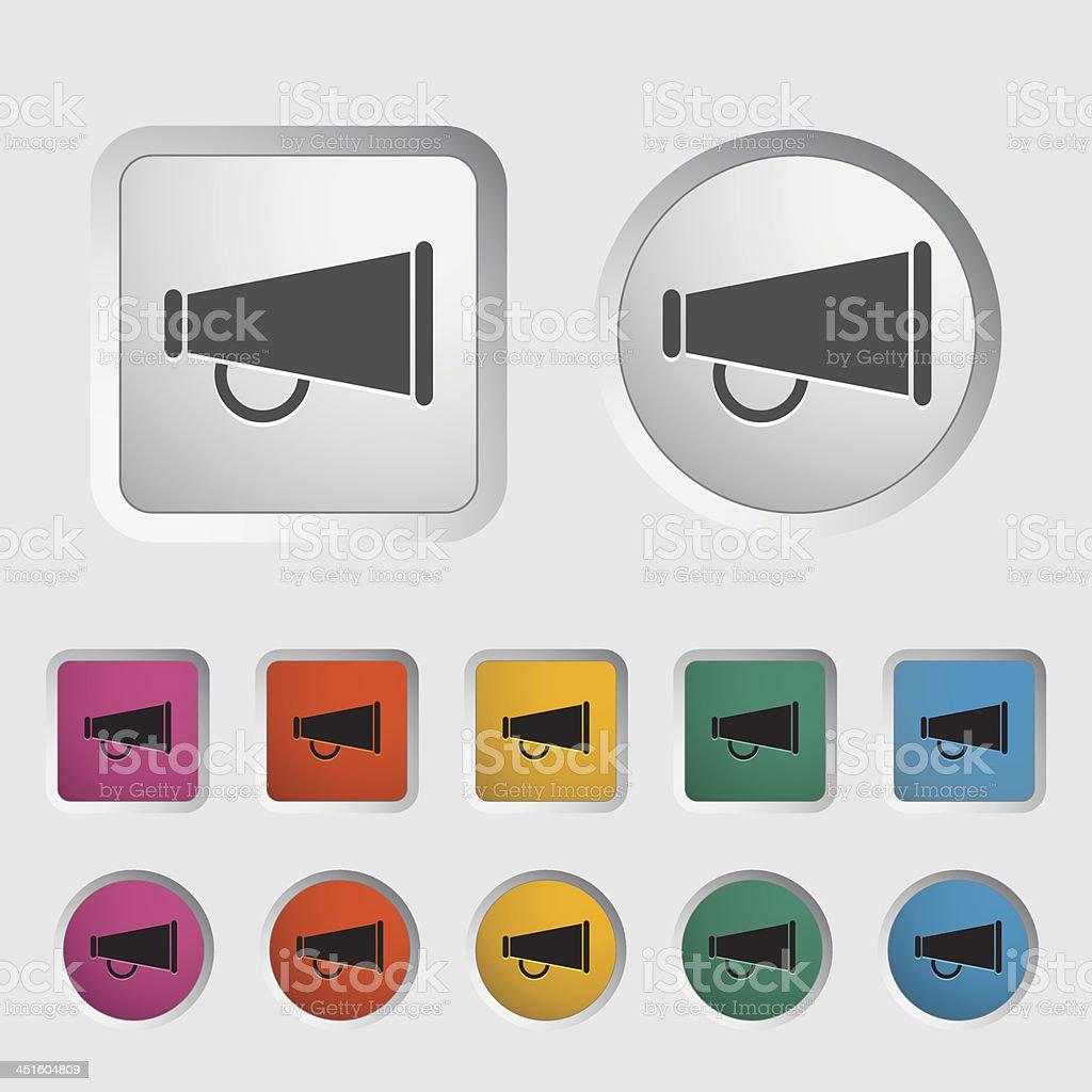 Horn single icon. vector art illustration