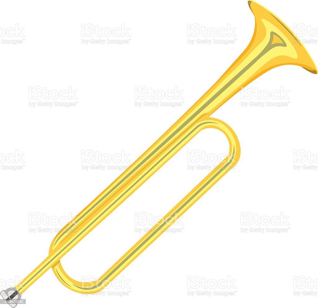 horn trumpet vector illustration isolated on white background vector art illustration