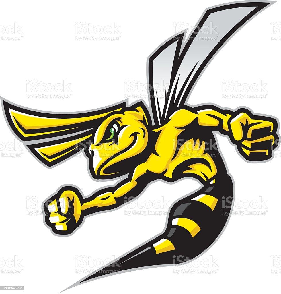 Hornet Fierce vector art illustration