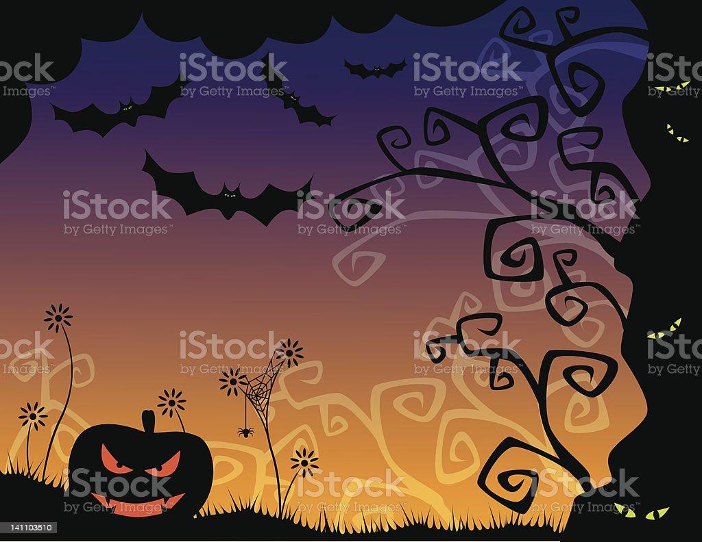 Horror halloween background royalty-free stock vector art