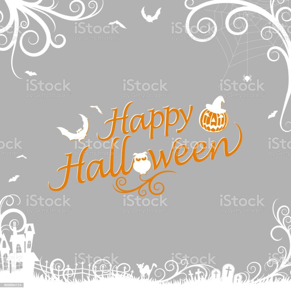 Horror Halloween vector art illustration