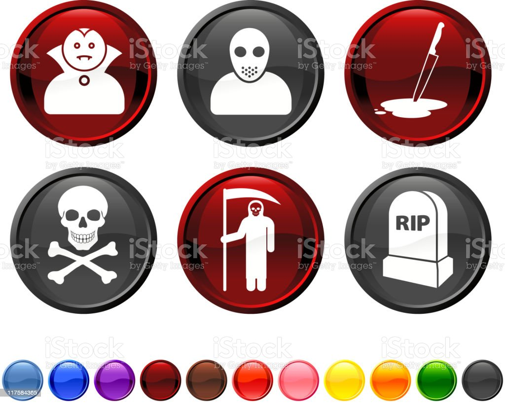 Horror royalty free vector artography royalty free vector icon set royalty-free stock vector art