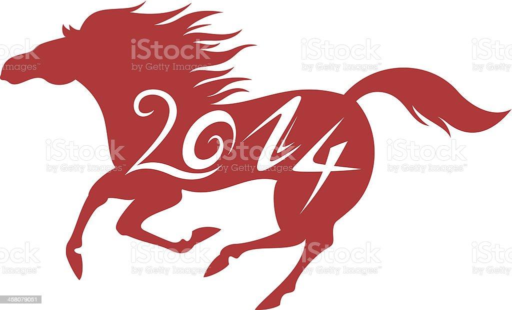 Horse 2014 royalty-free stock vector art