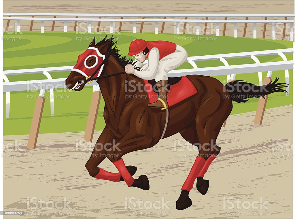 horse and jockey royalty-free stock vector art
