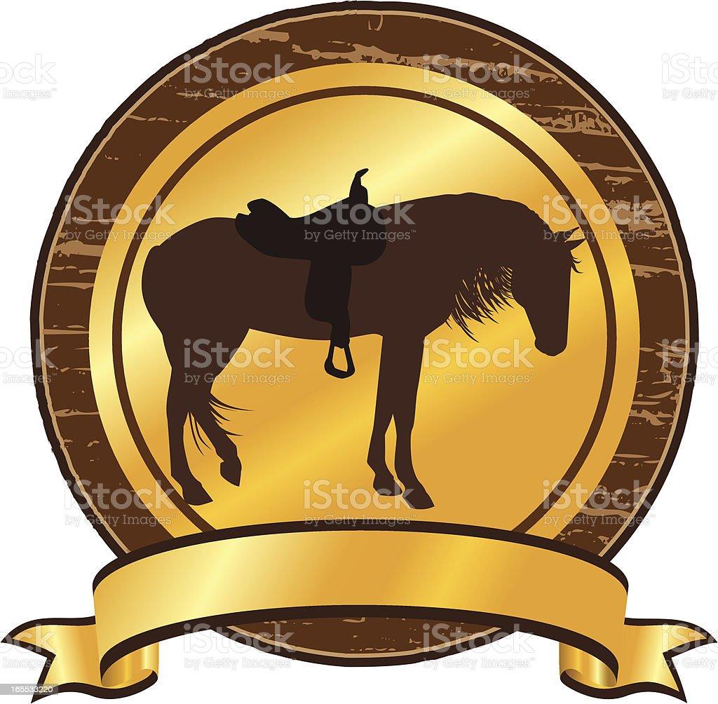 Horse Camp Emblem or Seal royalty-free stock vector art