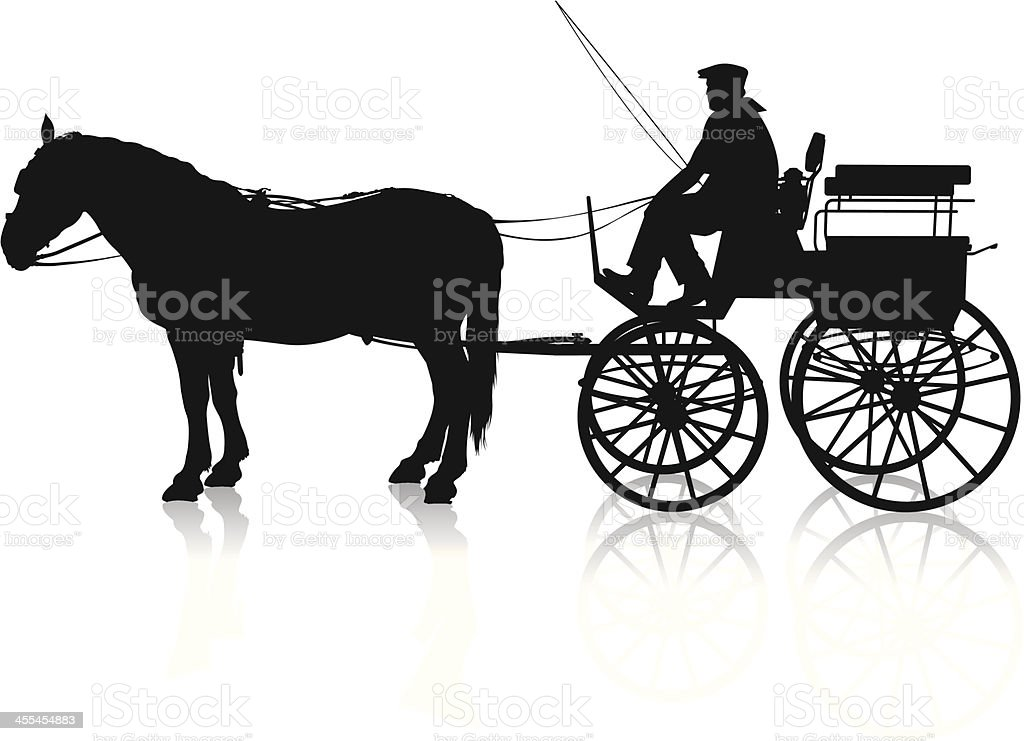 Horse Carriage vector art illustration