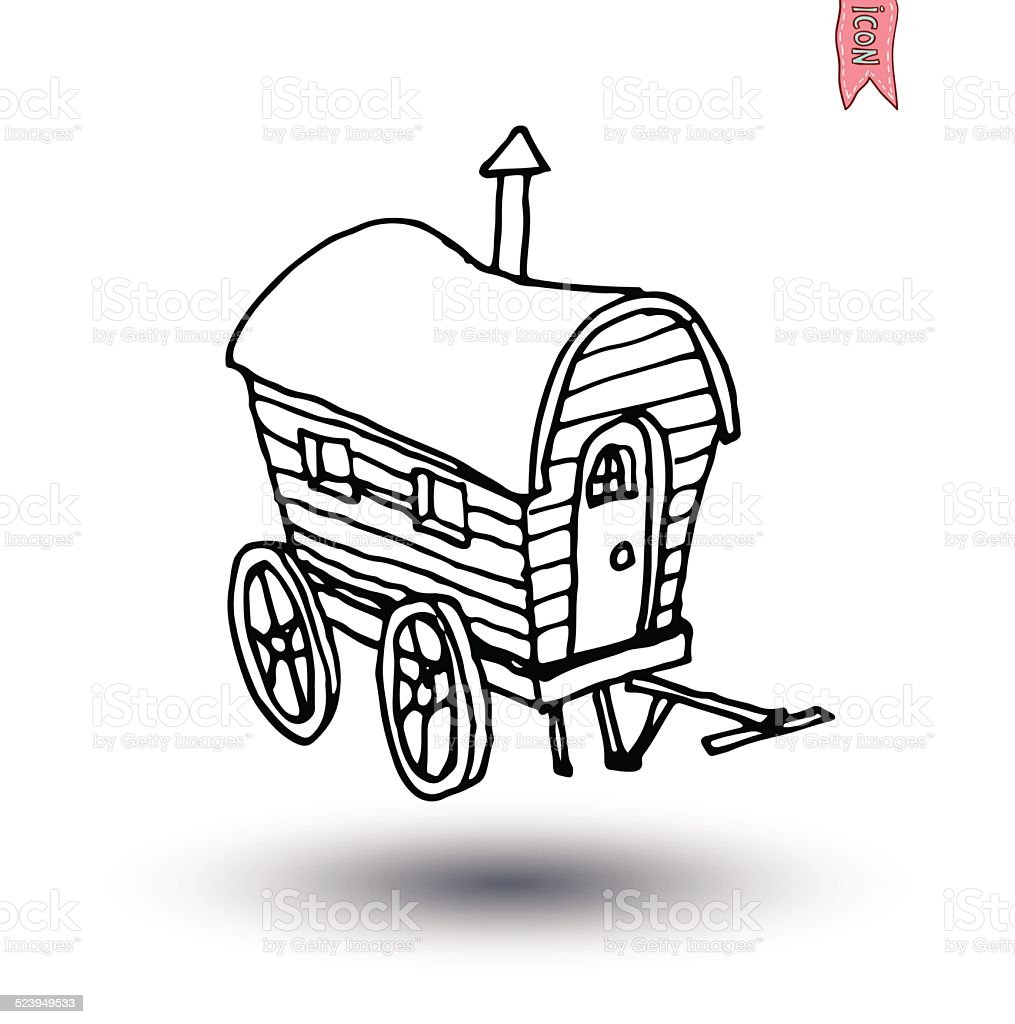 horse carriage wagon icon, vector illustration. vector art illustration