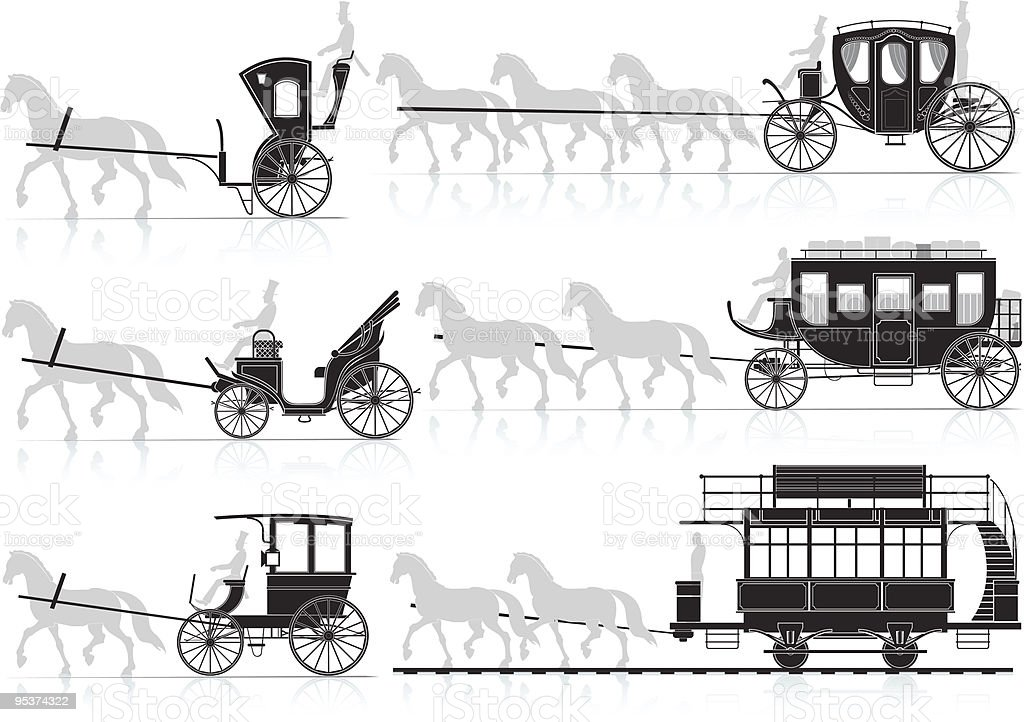 horse cart royalty-free stock vector art