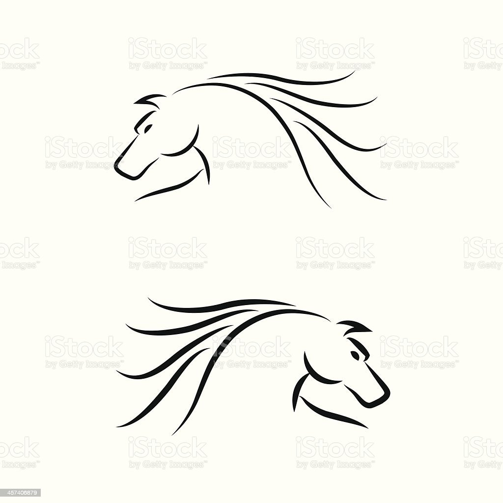 Horse Emblem. Set. Vector royalty-free stock vector art