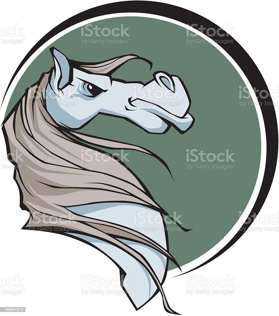 Horse Emblem royalty-free stock vector art