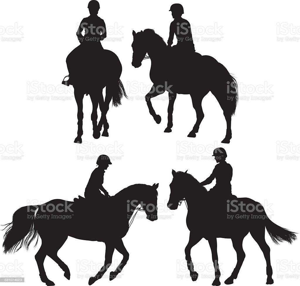 Horse equestrian vector art illustration