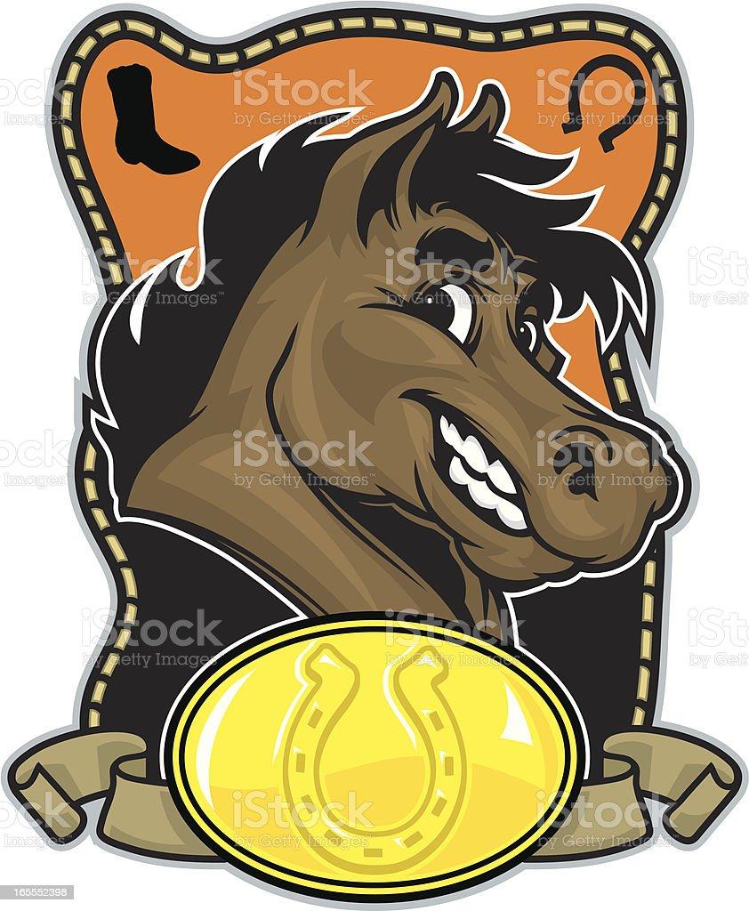 Horse Head Design royalty-free stock vector art