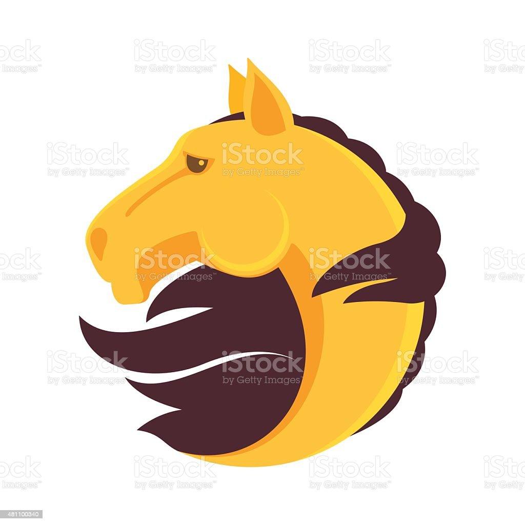 Horse head vector icon vector art illustration