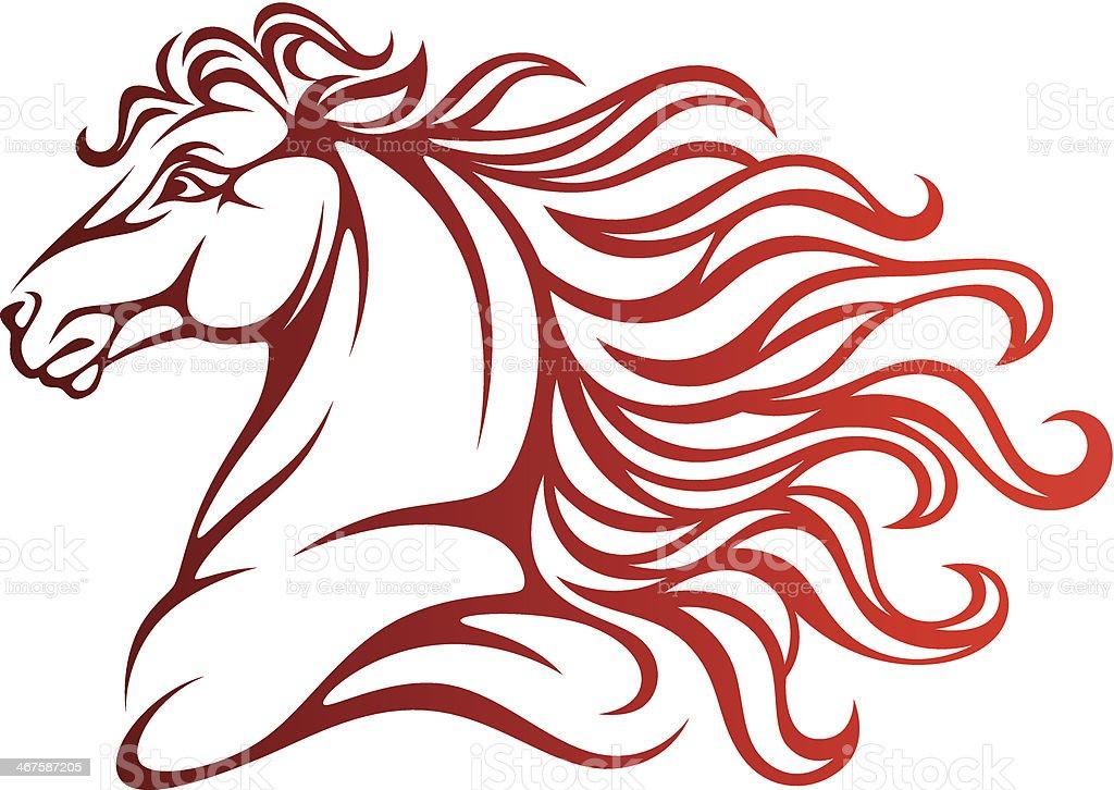 Horse head vector art illustration