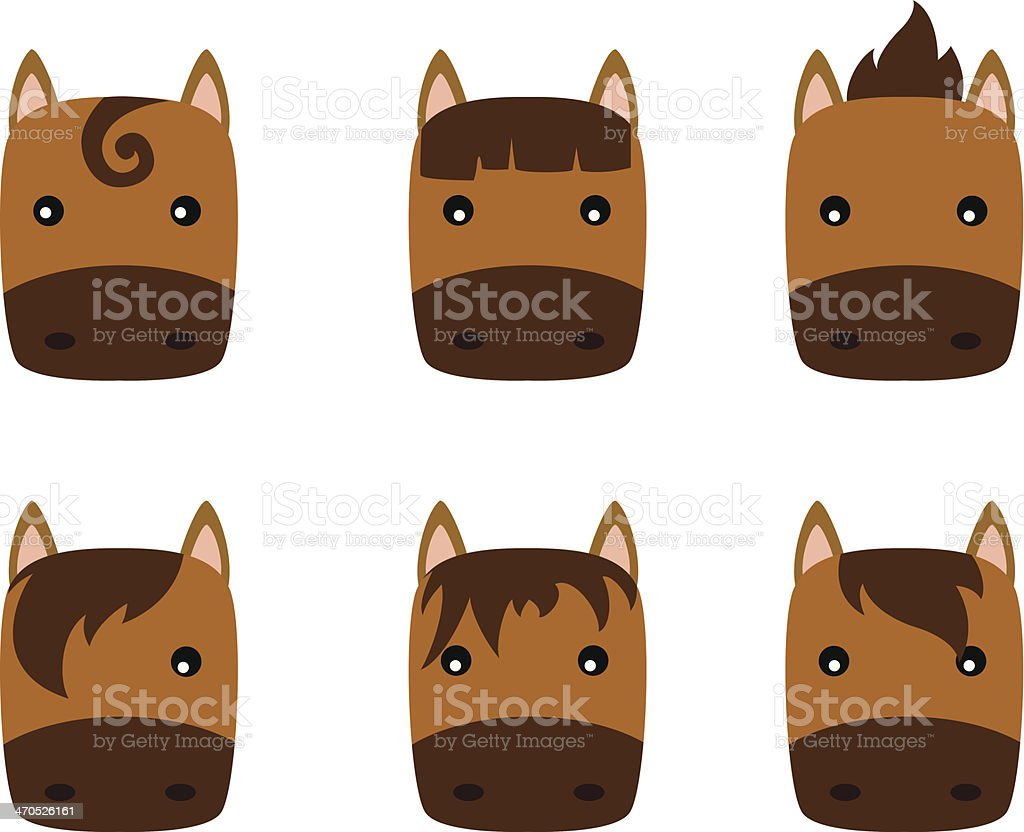 horse icon royalty-free stock vector art