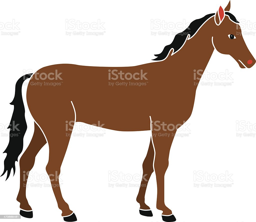 horse in color royalty-free stock vector art