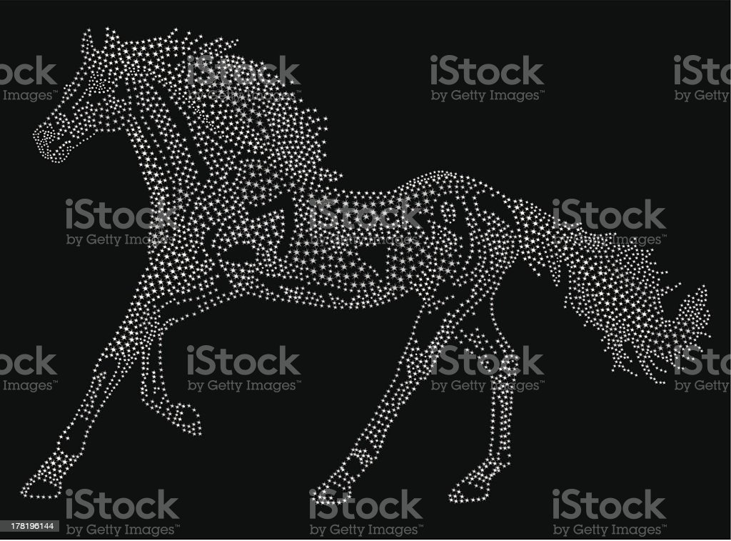 Horse of the stars royalty-free stock vector art
