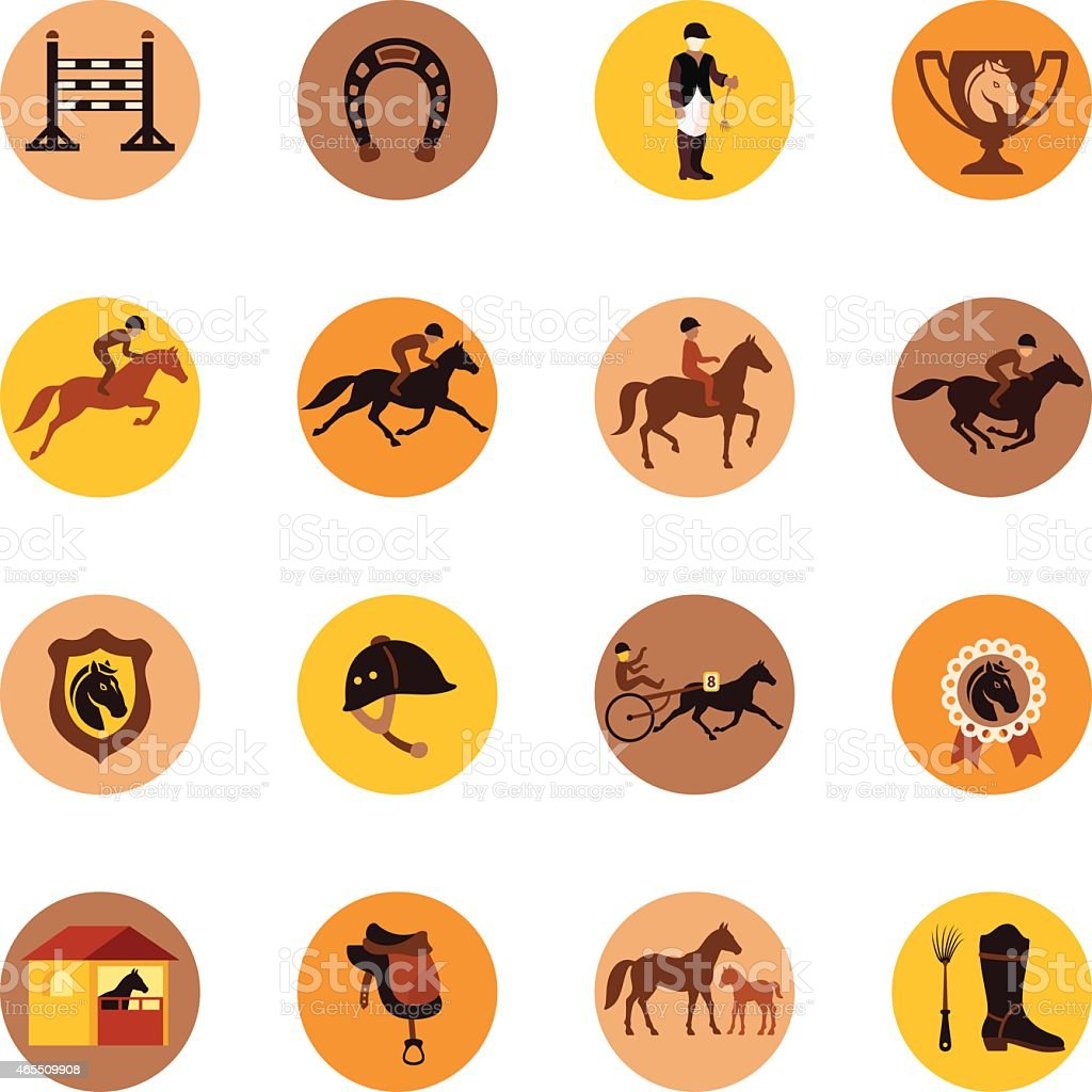 Horse Racing Icon vector art illustration