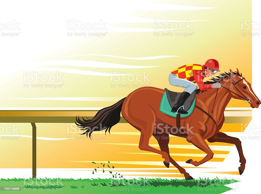 Horse Racing vector art illustration