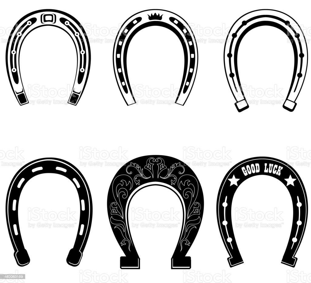 Horse shoe Set. vector art illustration