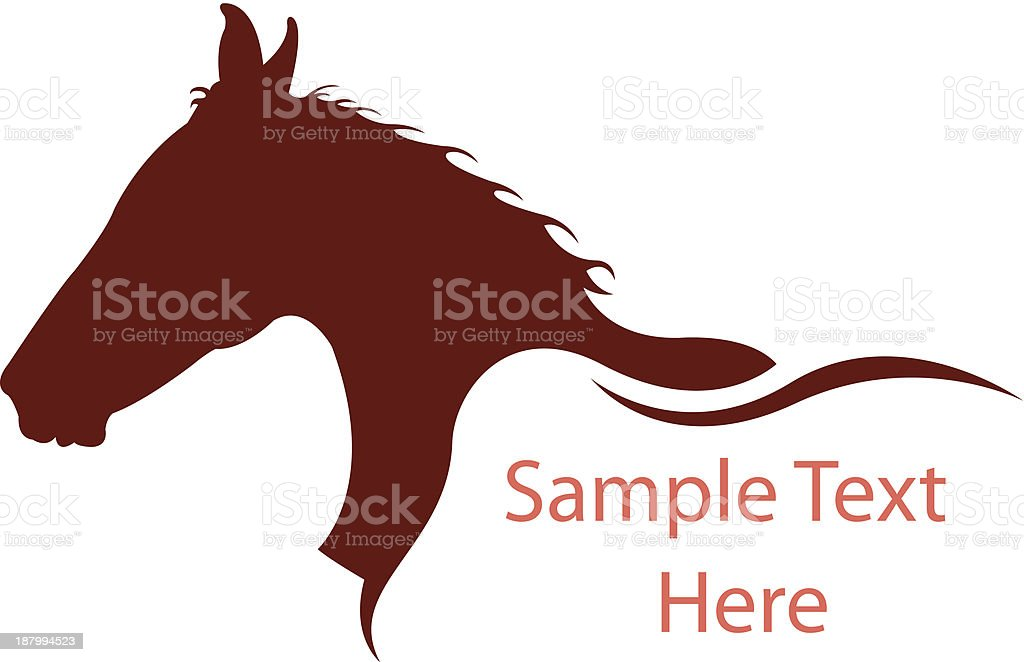 Horse silhouette design with text space royalty-free stock vector art