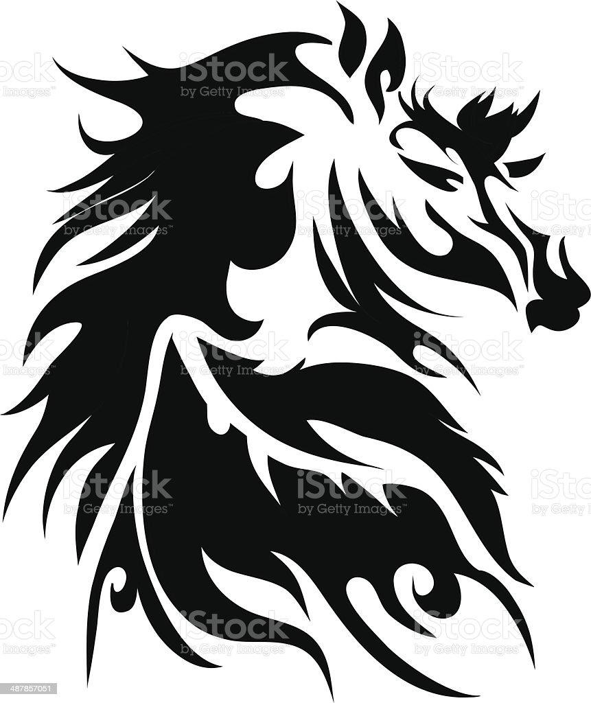 horse tattoo royalty-free stock vector art