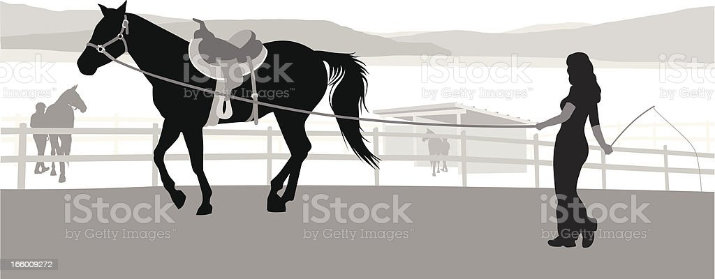 Horse Trainer royalty-free stock vector art