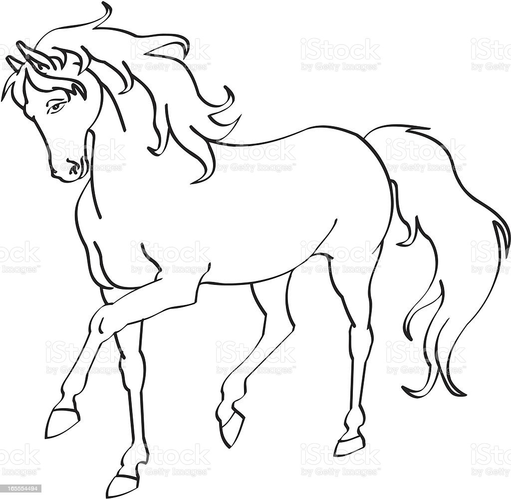 Horse royalty-free stock vector art