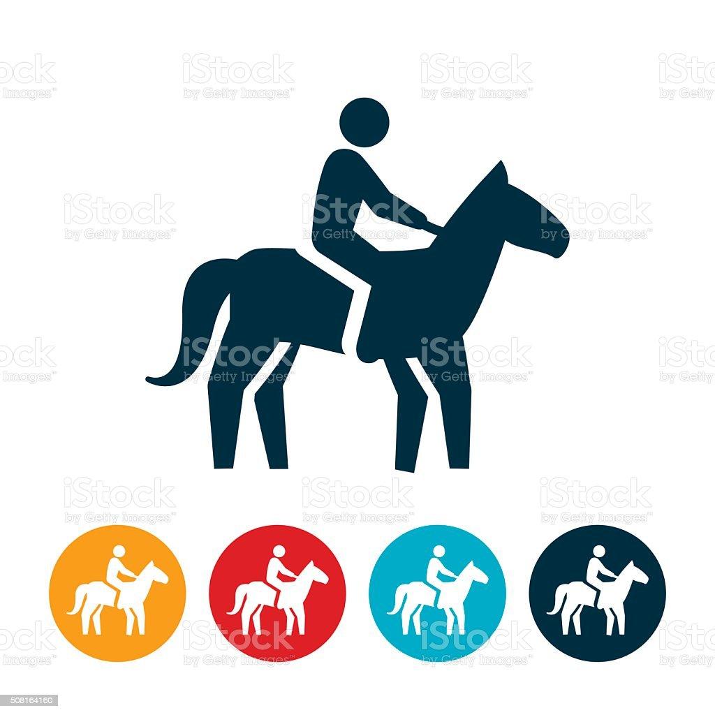 Horseback Riding Icon vector art illustration