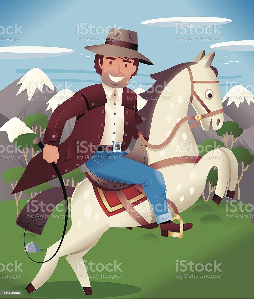 Horseman royalty-free stock vector art