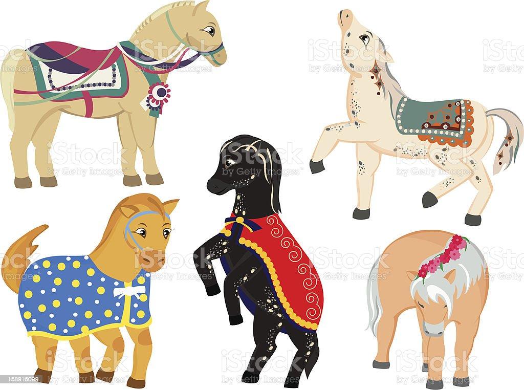 Horses pony royalty-free stock vector art