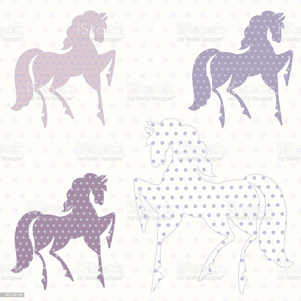 Horses seamless pattern royalty-free stock vector art
