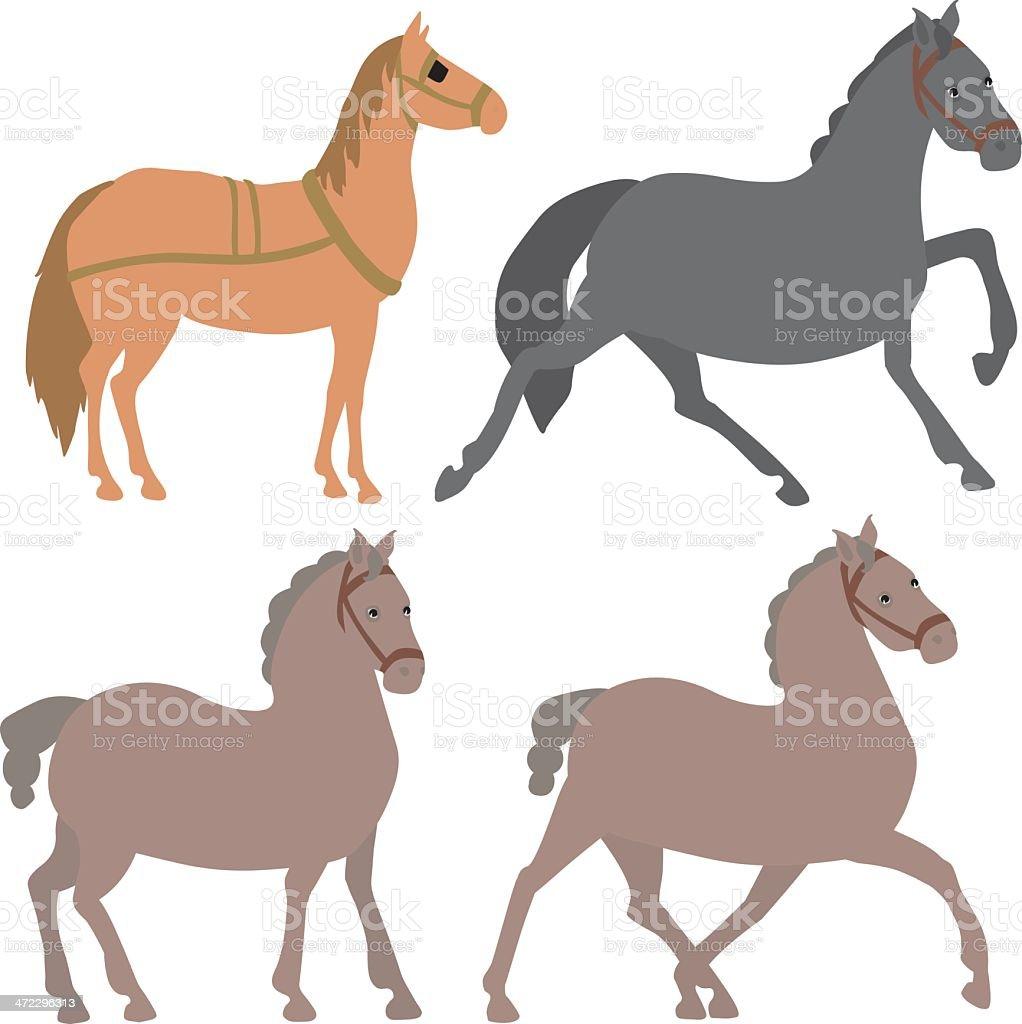 Horses royalty-free stock vector art