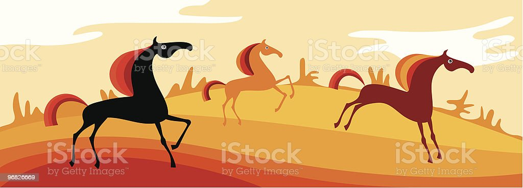 horses royalty-free stock vector art