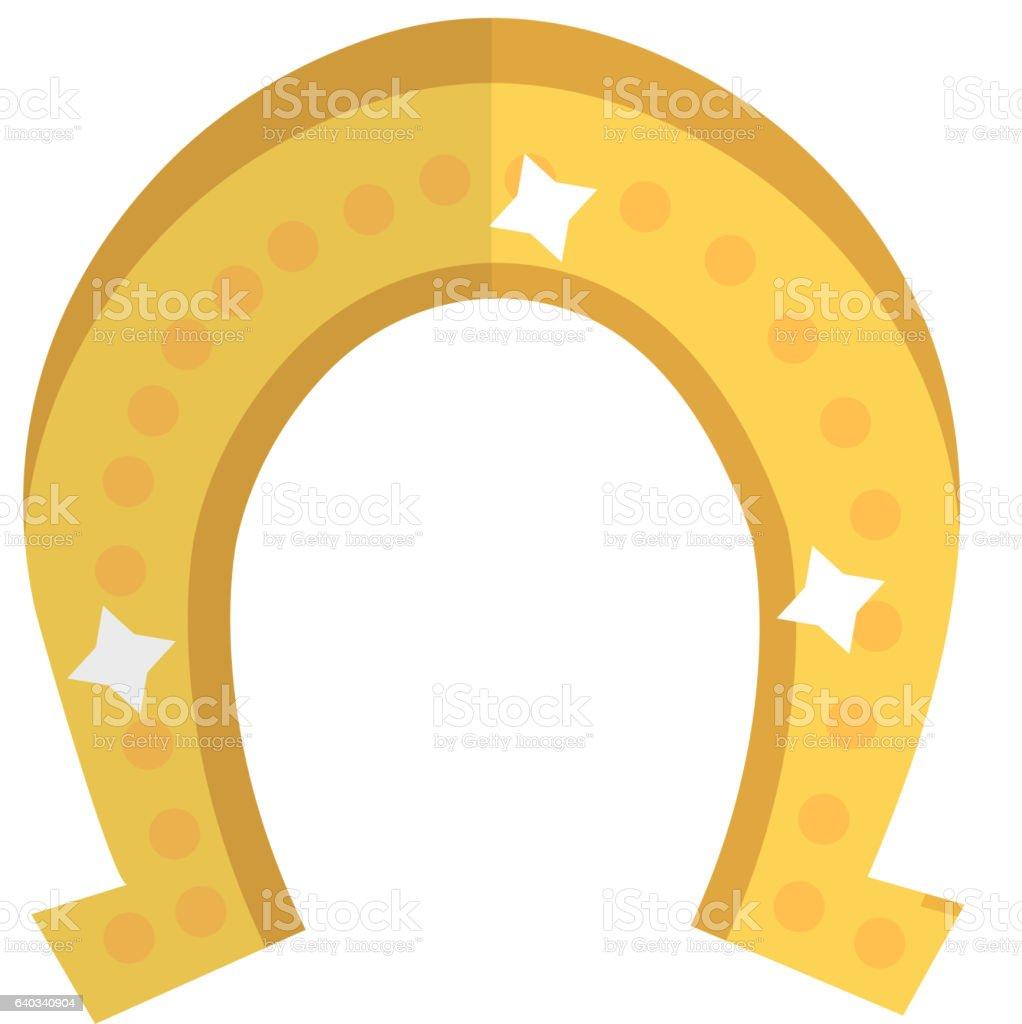 horseshoe icon flat style st patricks day symbol isolated stock