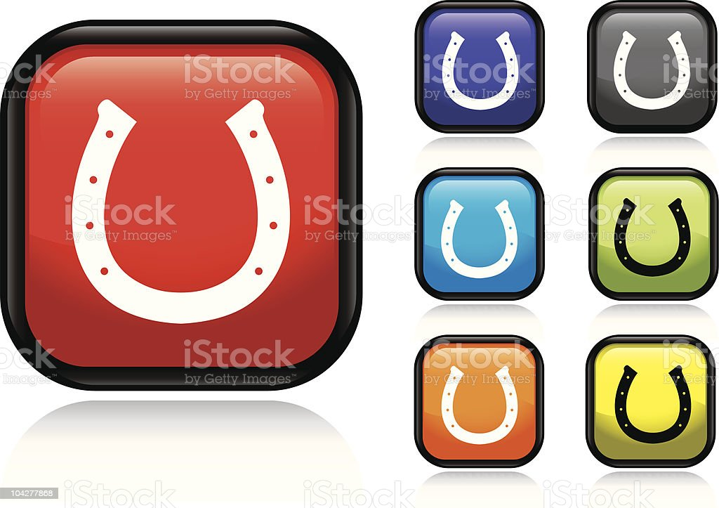 Horseshoe Icon royalty-free stock vector art