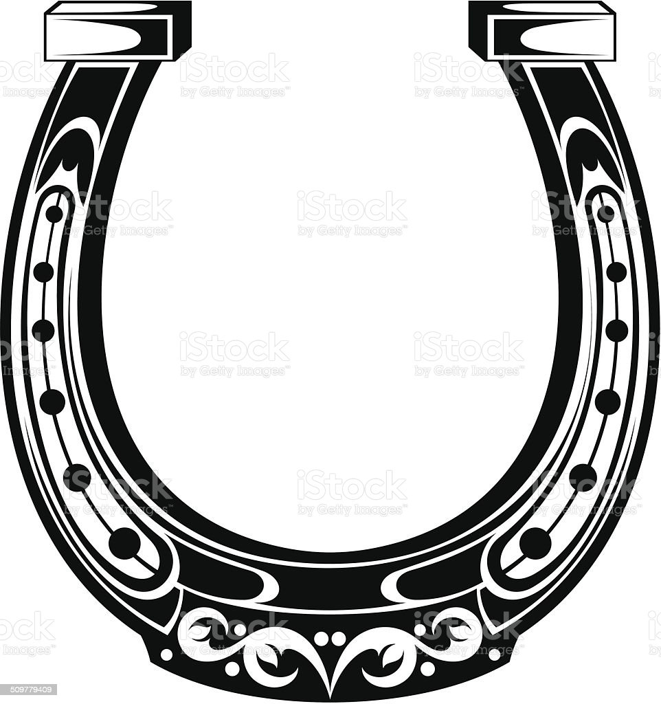 Horseshoe vector art illustration