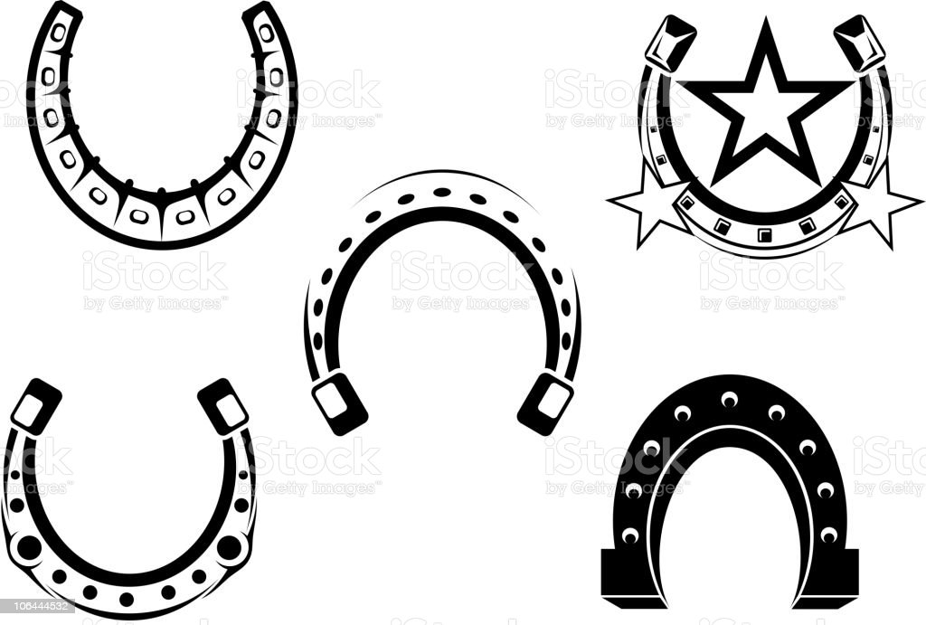 Horseshoes symbols vector art illustration