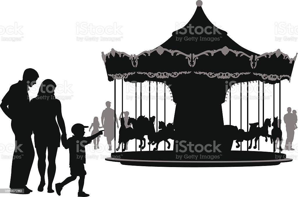 Horsies vector art illustration