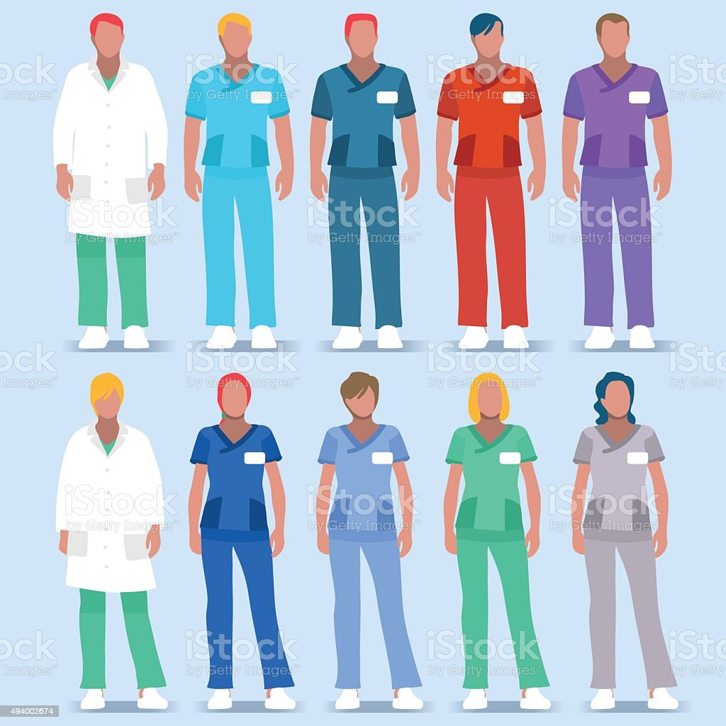 Hospital 01 People 2D vector art illustration