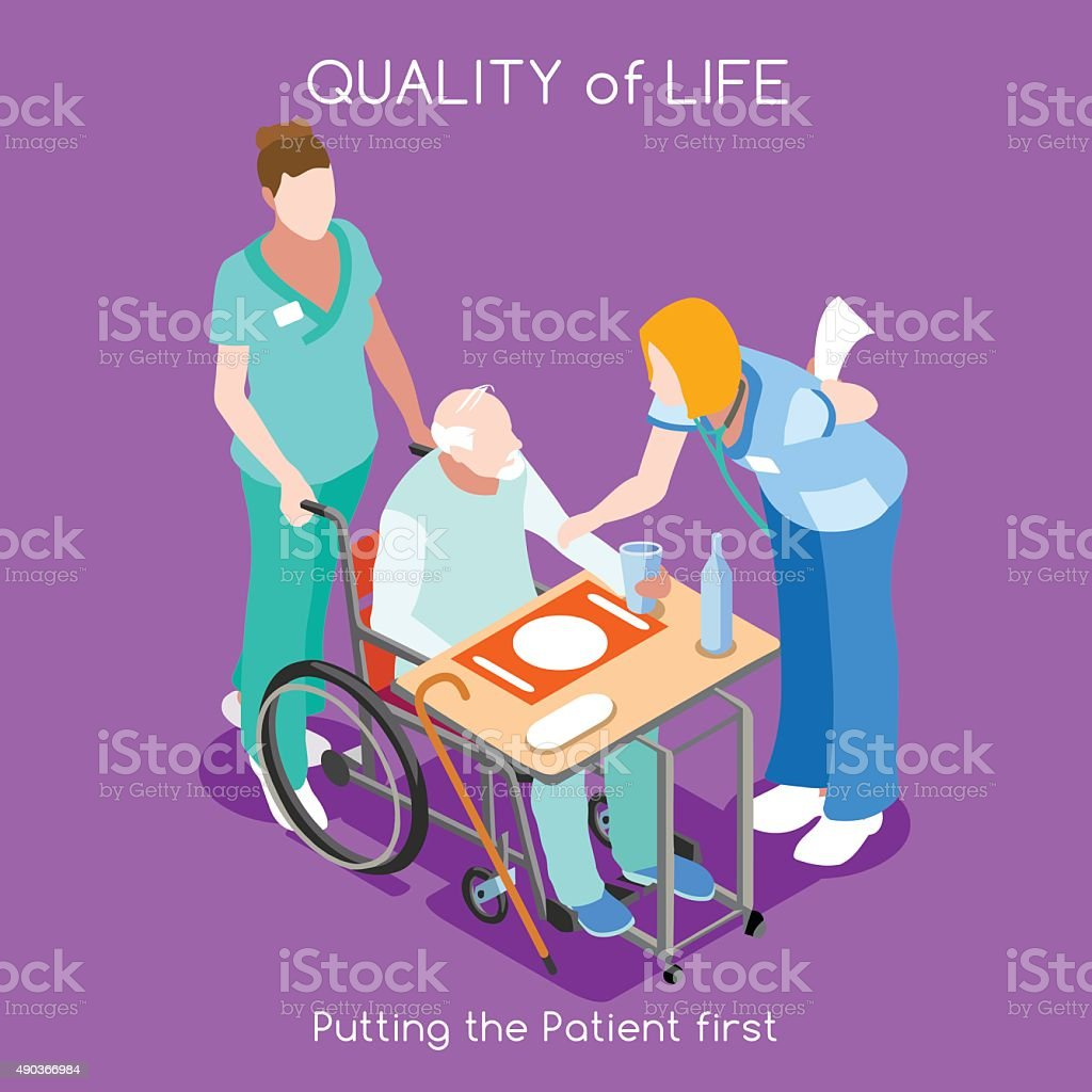 Hospital 04 People Isometric vector art illustration