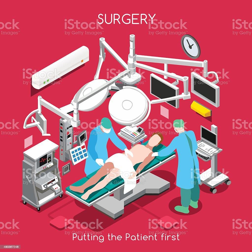 Hospital 06 People Isometric vector art illustration