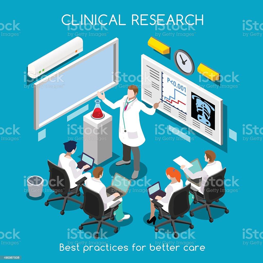 Hospital 08 People Isometric vector art illustration