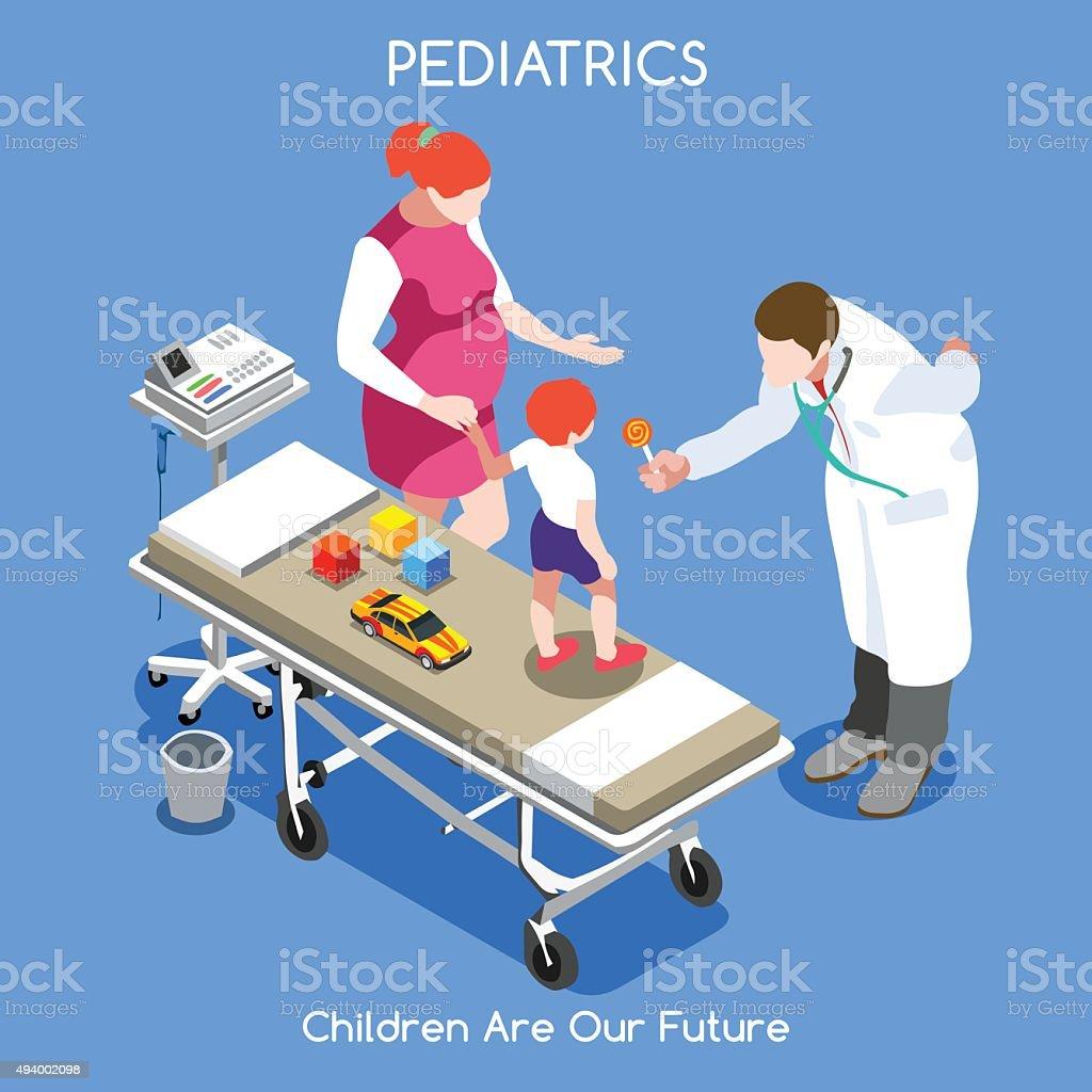 Hospital 11 People Isometric vector art illustration