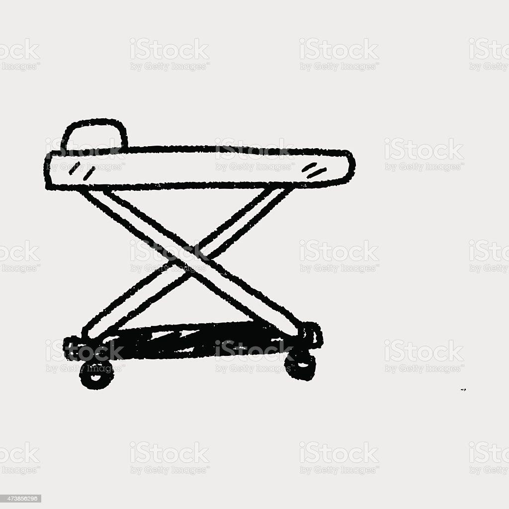 hospital bed doodle vector art illustration